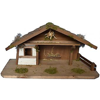 Crib Nativity scene wood Nativity stable ELEAZAR hand work for characters up to 11 cm