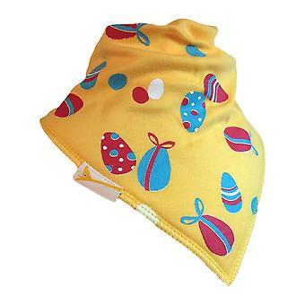 Yellow easter fun bandana bib