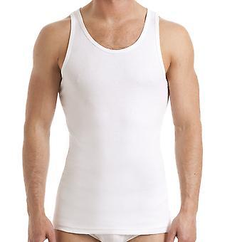 Haigman Mens 100% Cotton Singlet Vest Underwear (Pack of 3)