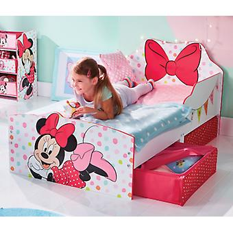 Cot in shaped wood with Disney Minnie