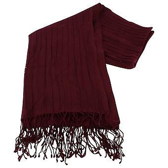 Bassin en bruin Turners eiken grote geribbelde wollen sjaal - wijn