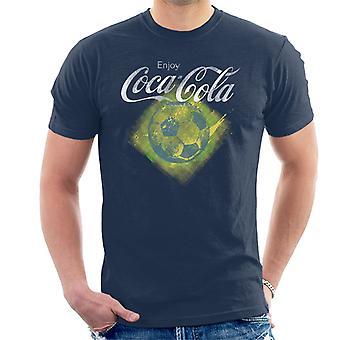 Coca Cola diamant fodbold mænd T-Shirt