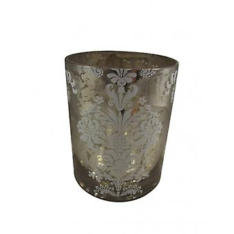 Gisela Graham Large Antique Silver Christmas Tea Light Holder