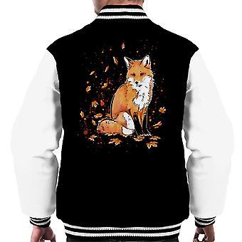 Fox In The Night Men's Varsity Jacket