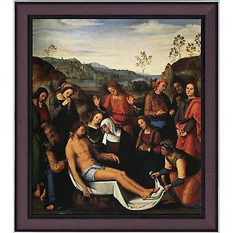 Avec Ram The Lamentation over The Dead, Pietro Perugino, 61x51cm