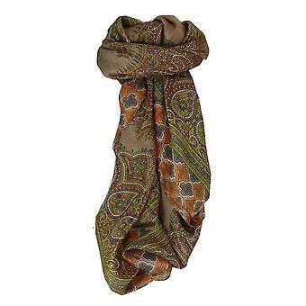 Amoreira seda tradicional lenço quadrado Vashti Blush por Pashmina & seda