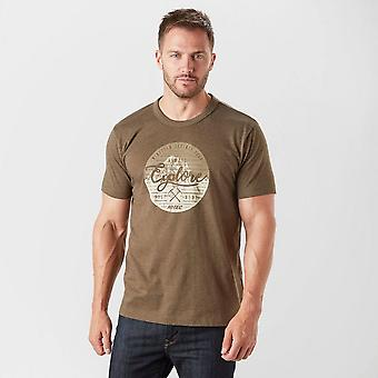 Nya Hi-Tec mäns barnet Kortärmad Graphic T-shirt Brown