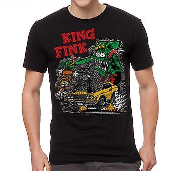 Rat Fink King Fink Men's Black T-shirt