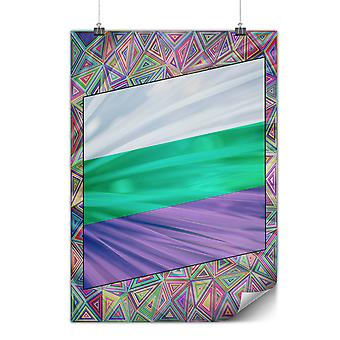 Matte or Glossy Poster with Colored Lines   Wellcoda   *y80