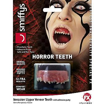 Horror Teeth, Invasion, with Upper Veneer Teeth, WHITE