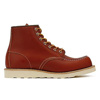 Red Wing 6-Inch Moc Oro Russet Portage Shoes Mens Toe Boots