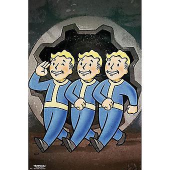 Fallout Vault Boys Poster