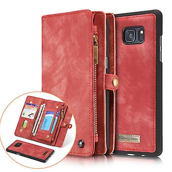 CASEME Samsung Galaxy Note 8 retro nahka lompakko kotelo punainen