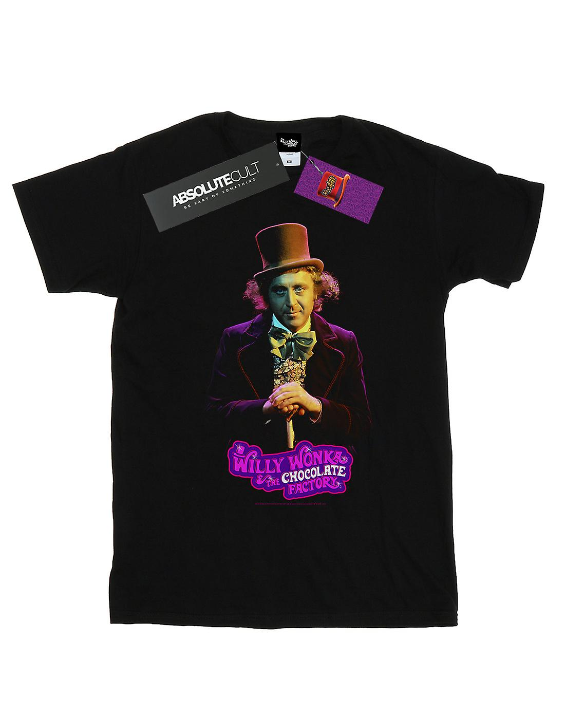 Willy Wonka And The Chocolate Factory Women's Dark Pose Boyfriend Fit T-Shirt