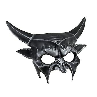 Metallic Half Face Demon Costume Mask