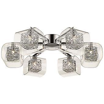 Printemps d'éclairage - Nottingham Chrome et verre Six luminaire encastré IPMM060DI6GMVT