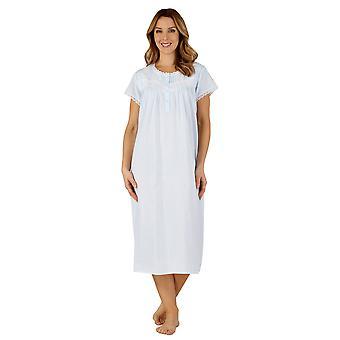 Slenderella ND3260 Frauen Baumwolle gewebt Nacht Kleid Loungewear Nachthemd