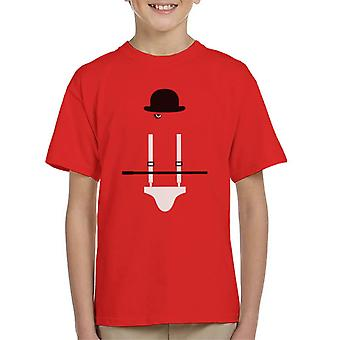 A Clockwork Orange Droog Movie Silhouette Kid's T-Shirt