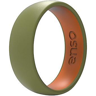 ENSO ringen Dual Tone-serie Silicone Ring - olijf/Burnt Orange