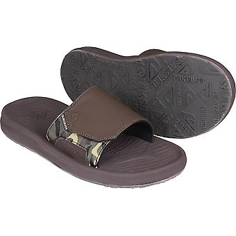 Quiksilver Mens viagens Oasis Slide sandálias - Brown