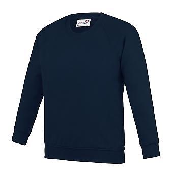 AWDis Academy Childrens/Kids Crew Neck Raglan School Sweatshirt (Pack of 2)
