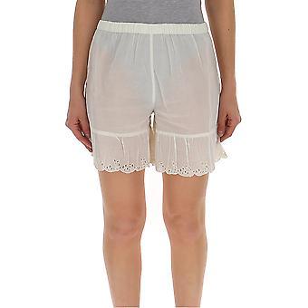 Semi-couture S9pl16a160 Women's White Cotton Shorts