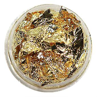 1 pcs pots de flocons de papier d'or
