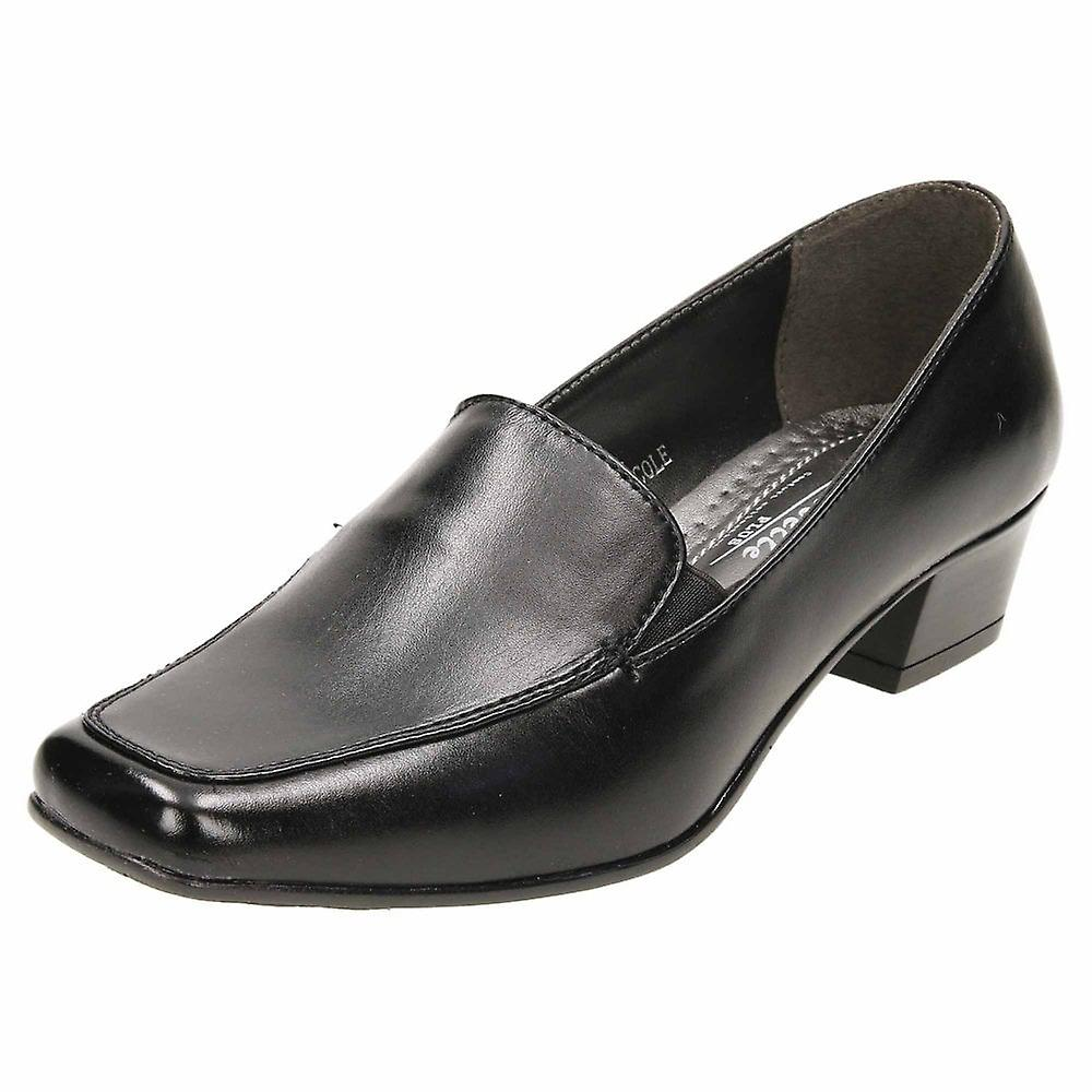 Annabelle Slip On Low Block Heeled Court Shoes Cushioned