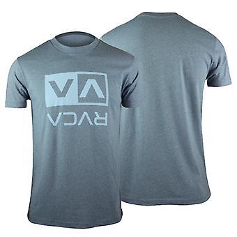 RVCA Mens VA Sport Flipped Box T-Shirt - Blue - mma surf skate