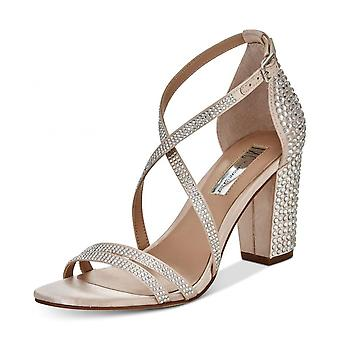 INC International Concepts Womens Kamma Fabric Open Toe Special Occasion Stra...