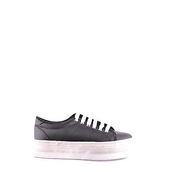 Jeffrey Campbell Ezbc132039 Women-apos;s Black Faux Leather Sneakers