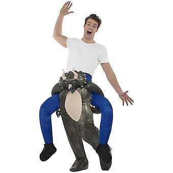 Trajes animal Carry me às cavalitas traje de dinossauro