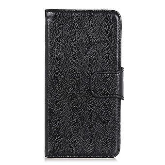 Samsung Galaxy A70 Brieftasche Fall strukturiert Split-Schwarz