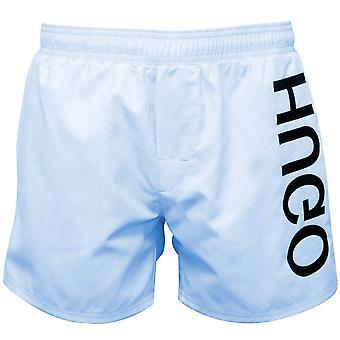 HUGO Saba Side Logo Pantaloncini da bagno, Soft Blue
