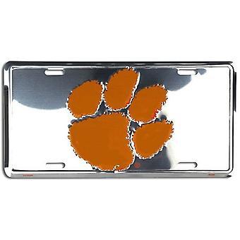 Clemson Tigers NCAA silver spegel registrerings skylt