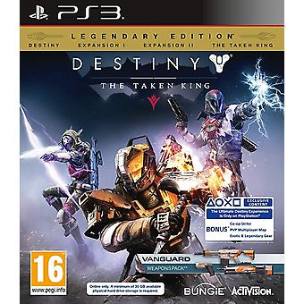 Destiny de genomen koning legendarische editie PS3 game (DLC verstreken)