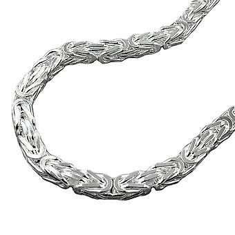 سلسلة ca. 5 ملم سلسلة الملك ساحة لامعة من الفضة 925 55 سم