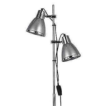 Ideal Lux-Elvis sølv og Chrome justerbar gulvlampe IDL042794