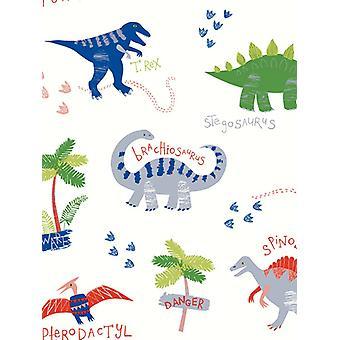 Dino Doodles Tapety - Multi - Arthouse 667500