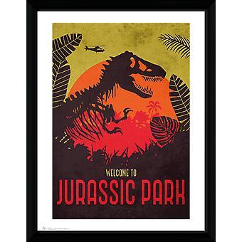 Jurassic Park Silhouette Collector Print 30.5x41cm