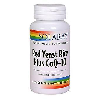 Riz à levures rouges Solaray et Co-Q10 Capsules 60 (1374)