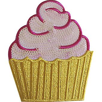 Patch - C&D - Food Cupcake with Sequins New Gifts p-4654