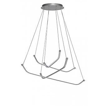 Mantra Papua Ceiling LED Light 50W, 3900lm, 3000K Polished Chrome/White Acrylic, 3yrs Warranty