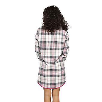 サイバージャミーズ 4252 ウィメンズ&アポス;s ローラ ピンク ミックス チェック コットン ナイトシャツ
