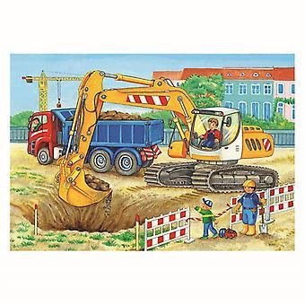Ravensburger Puzzel Bouwplaats en Boerderij 2x12 Stukjes