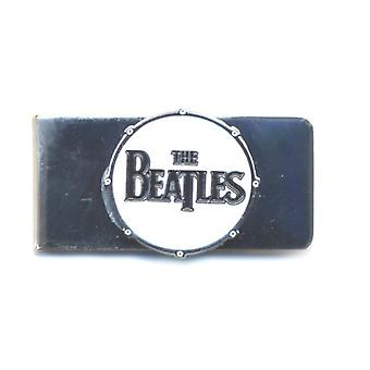 The Beatles Money Clip Classic Drum Band White & Chrome nuovo Official Metal