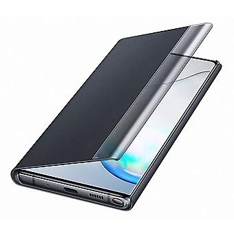 Official Samsung Clear View Standing Flip Cover for Samsung Galaxy Note 10+ / 10 Plus - Black