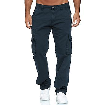 Men's Cargo Jeans Loose Fit Chinos Work Trousers Casual Pants Straight