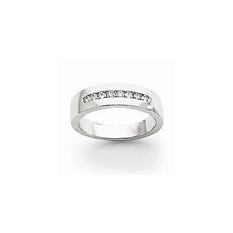 14k oro bianco solido Comfort fit canale impostato semilavorati non engraveable diamante uomo canale fedina - dimensione 10