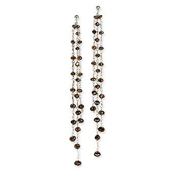 14k Dangle Post Earrings Briolette cut Gold Brown Diamond Briolette Earring Jewelry Gifts for Women